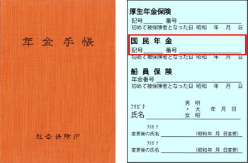 昭和49年10月~平成8年12月に被保険者資格の取得手続を行った方の年金手帳で基礎年金番号を調べる