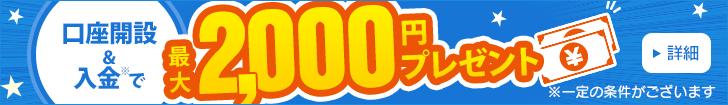 最大2,000円プレゼント!資産形成応援キャンペーン